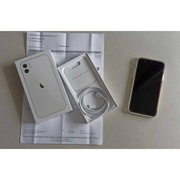 Apple iPhone 11 Biały/Miesięczny/Idealny/Gwarancja