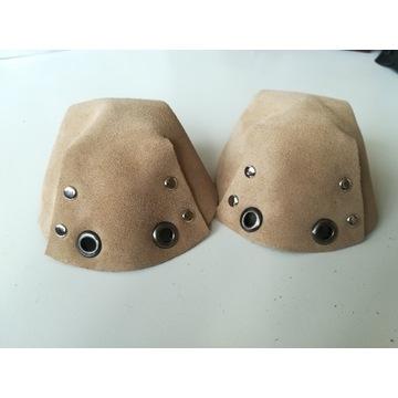 Ochraniacze na wrotki / toe cap - Beżowy Zamsz