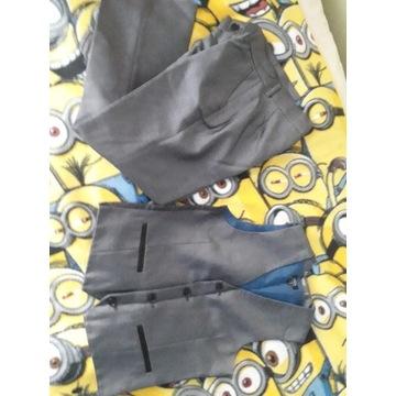 Garniturek -spodnie + kamizelka 8y