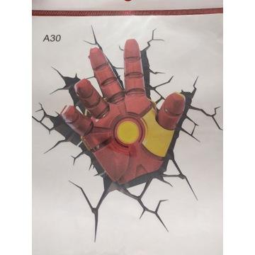 Naklejka na samochód Iron Man ręka