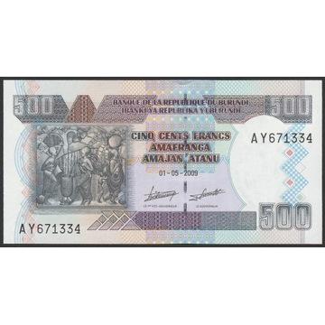 Burundi 500 franków 2009 - AY - stan bankowy UNC