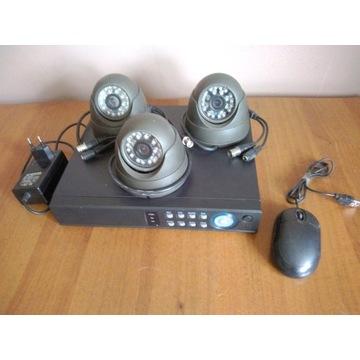 Zestaw do monitoringu 3 kamery, rejestrator