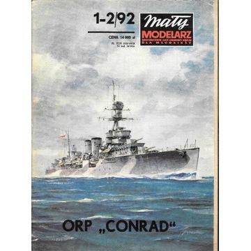 Mały Modelarz 1-2 1992 ORP CONRAD krążownik model