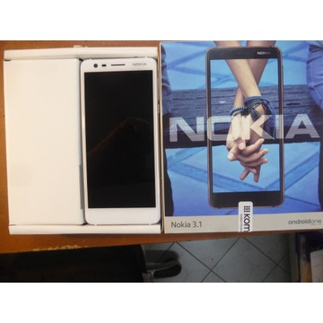 Smartfon Nokia 3.1 (biały)