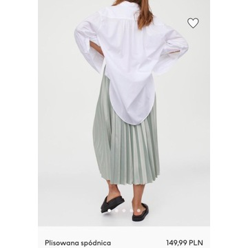 Spódnica H&M plisowana pistacjowa z obecnej kolekc
