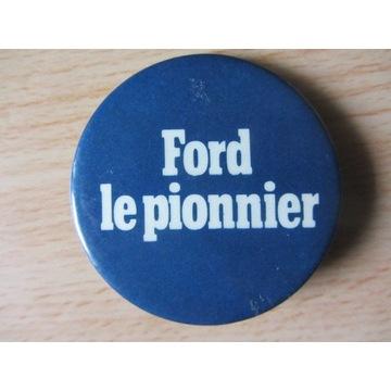 Duża odznaka, znaczek, przypinka FORD (lata 70-te)