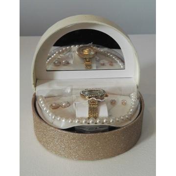 Adrienne Vittadini zegarek, 2xkolczyki, naszyjnik