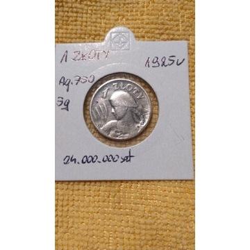 1 zł 1925  ŻNIWIARKA srebro