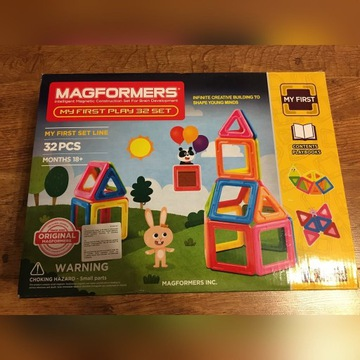 Klocki Magformers my first play 32 set Nowe