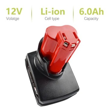 Akumulator bateria do Milwaukee 12V 6.0Ah Li-ion