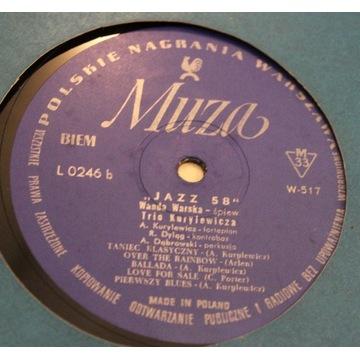 W.Warska , Trio Kurylewicza - Jazz 58 Muza