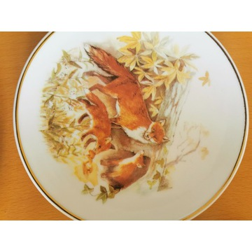 Talerzyk dekoracyjny lisy