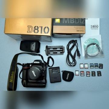 Sprzedam Nikon D810 body + grip Nikon MB-D12
