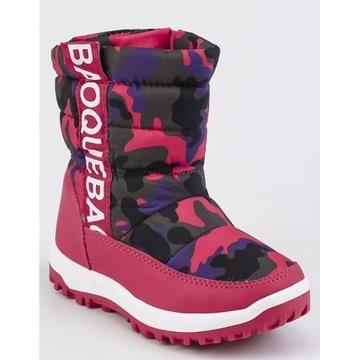 Buty zimowe śniegowce r.29 18,5 cm ocieplane