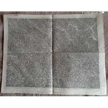 Mapa z 1909 r : Turka,Wołcze, rz. Stryj(1: 75000)