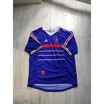 Koszulka 1998 vintage piłkarska Francja