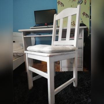 krzesło sosnowe z poduszką