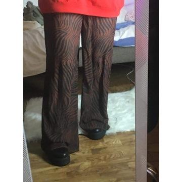 Spodnie wide leg mgiełka pretty little thing
