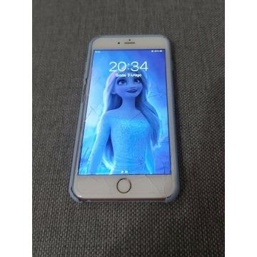 Iphone 6S + Plus różowy,pęknięty ekran CAŁY DZIAŁA