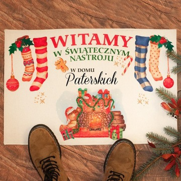 WYCIERACZKA/DYWANIK świąteczne Powitanie Gości