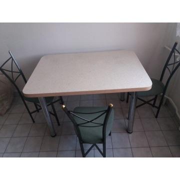 Zestaw STÓŁ rozkładany do jadalni 115x80+ 3 krzesł