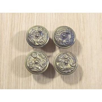 Zestaw 4 mosiężnych uchwytów meblowych 30 mm