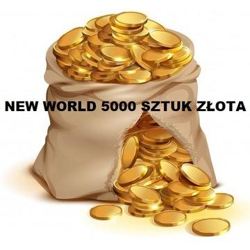 NEW WORLD 5000 sztuk złota/gold  - SERWER MAYDA
