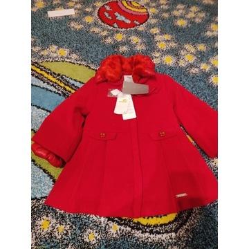 Płaszcz płaszczyk Mayoral nowy 104 zimowy czerwony