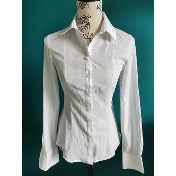Koszula Tiffi bawełna XS 34 biała z kołnierzykiem