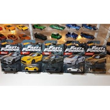 Hot Wheels - Fast & Furious 2020 5 sztuk Resoraki