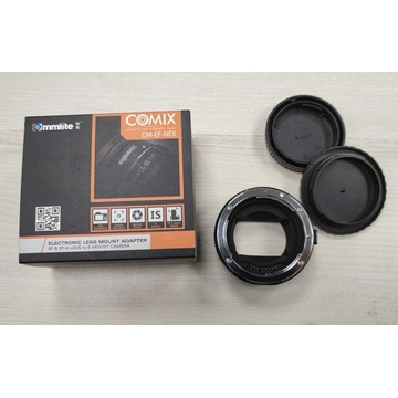 COMMLITE Adapter bagnetowy Sony E / Canon EOS MkII