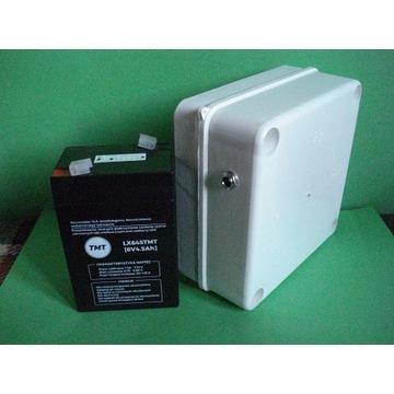 Akumulator z obudową na 6V.