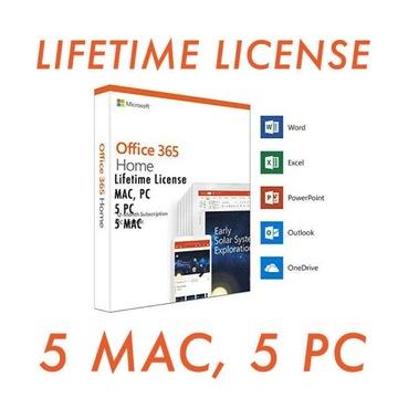 Office 2019 Pro 365 Lifetime 5 KLUCZY Windows Mac