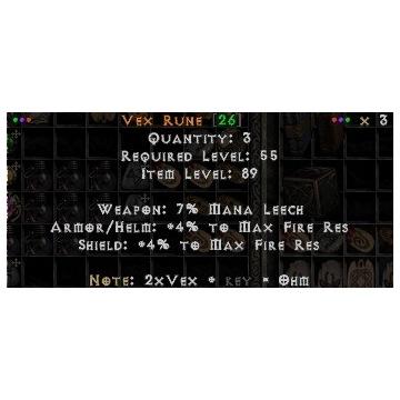 Runa Vex Project Diablo 2 Sezon 3