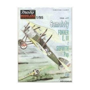MM 1/95 Samoloty Fokker E III i Sopwith Pup