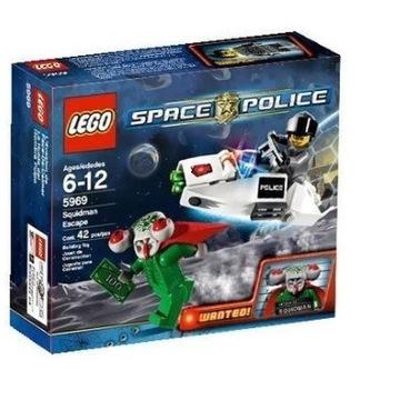 LEGO SPACE POLICE 5969 - SQUIDMAN ESCAPE + GRATIS