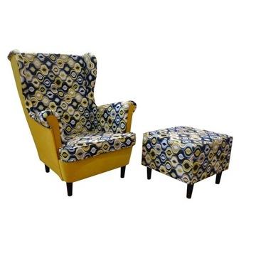 Fotel USZAK+PODNÓŻEK, kolory, super cena!