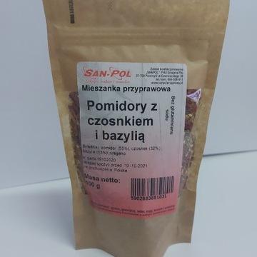 Pomidory z Czosnkiem i Bazylia 100g BEZ GLUTA.SODU