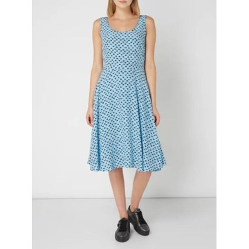 niebieska blue suekienka midi m calvin klein logow