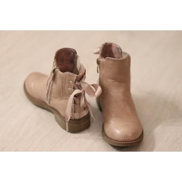Botki buty na jesień brudny róż r. 27