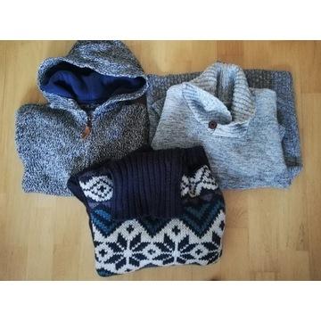 Zestaw swetrów chłopięcych 146/152