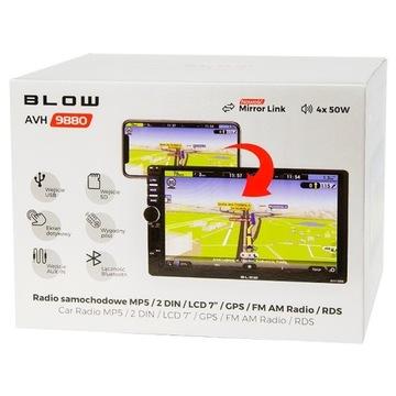 """Radio samochodowe BLOW AVH-9889 2DIN 7"""" Gwarancja"""
