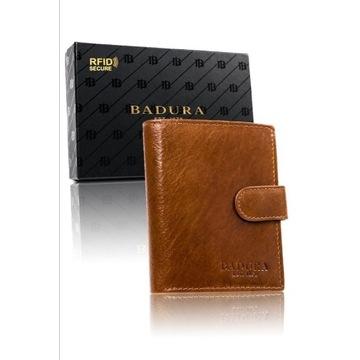 [3 kolory] Duży portfel męski Badura RFID