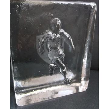 Przycisk do papieru-FOOTBALL- szkło kryształowe !