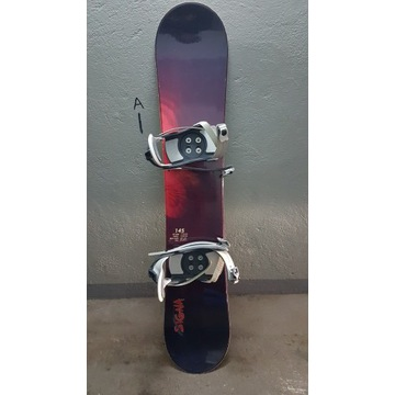 Deska snowboardowa Signa Sport 145 cm + wiązania