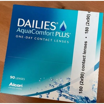 DAILIES AquaComfort Plus Soczewki 90 sztuk, -1,25