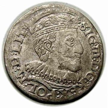 Trojak 1591 Zygmunt III Waza Olkusz R2