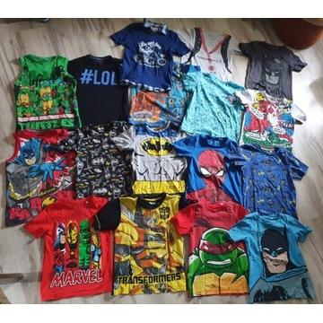 Paczka T-shirtów Batman Marvel Turtles r. 140