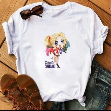 Koszulka t-shirt Harley quinn Queen S-XXL biała
