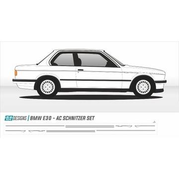 Naklejki BMW E30 - dekory AC Schnitzer dtm tuning